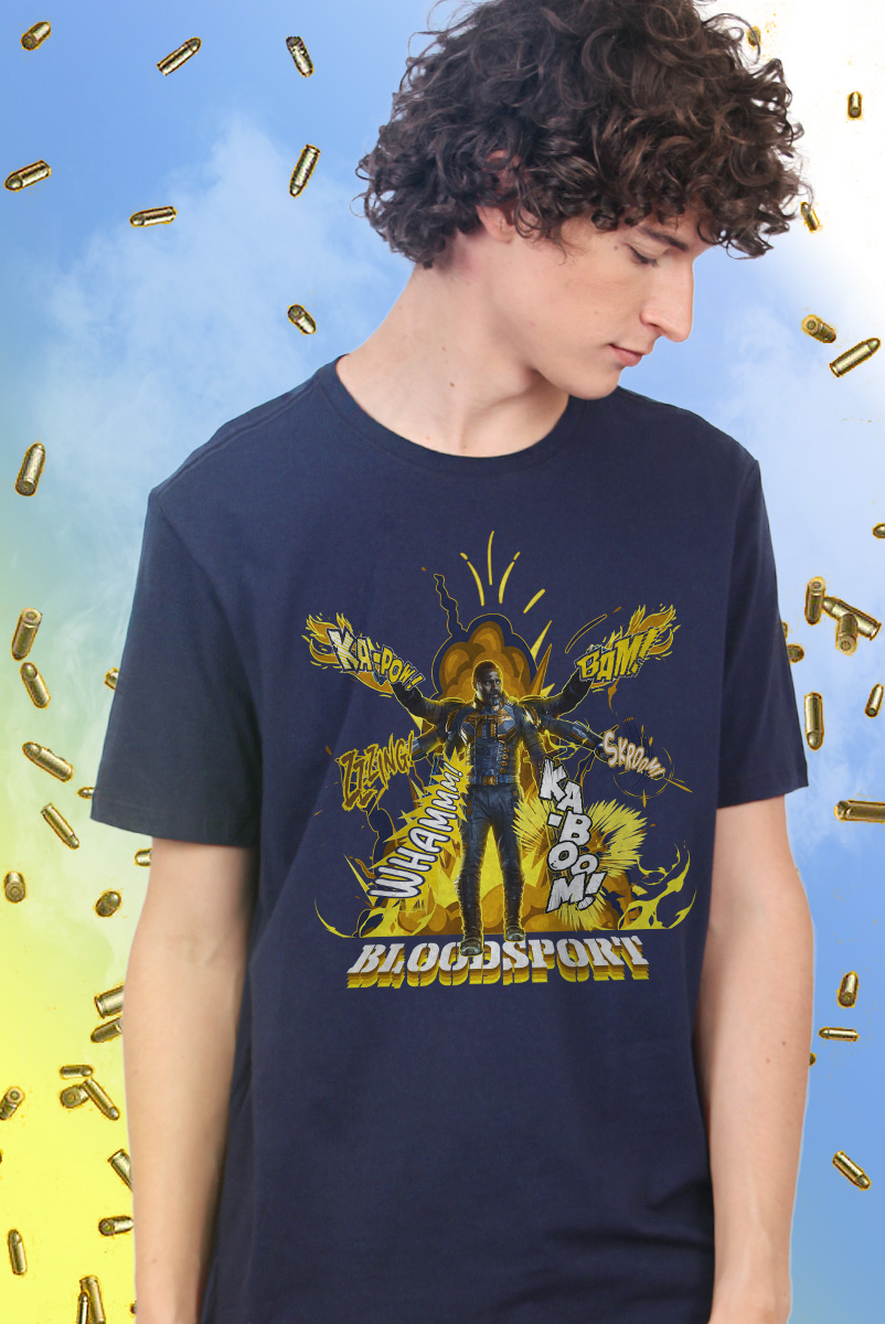 Camiseta Masculina Esquadrão Suicida Bloodsport