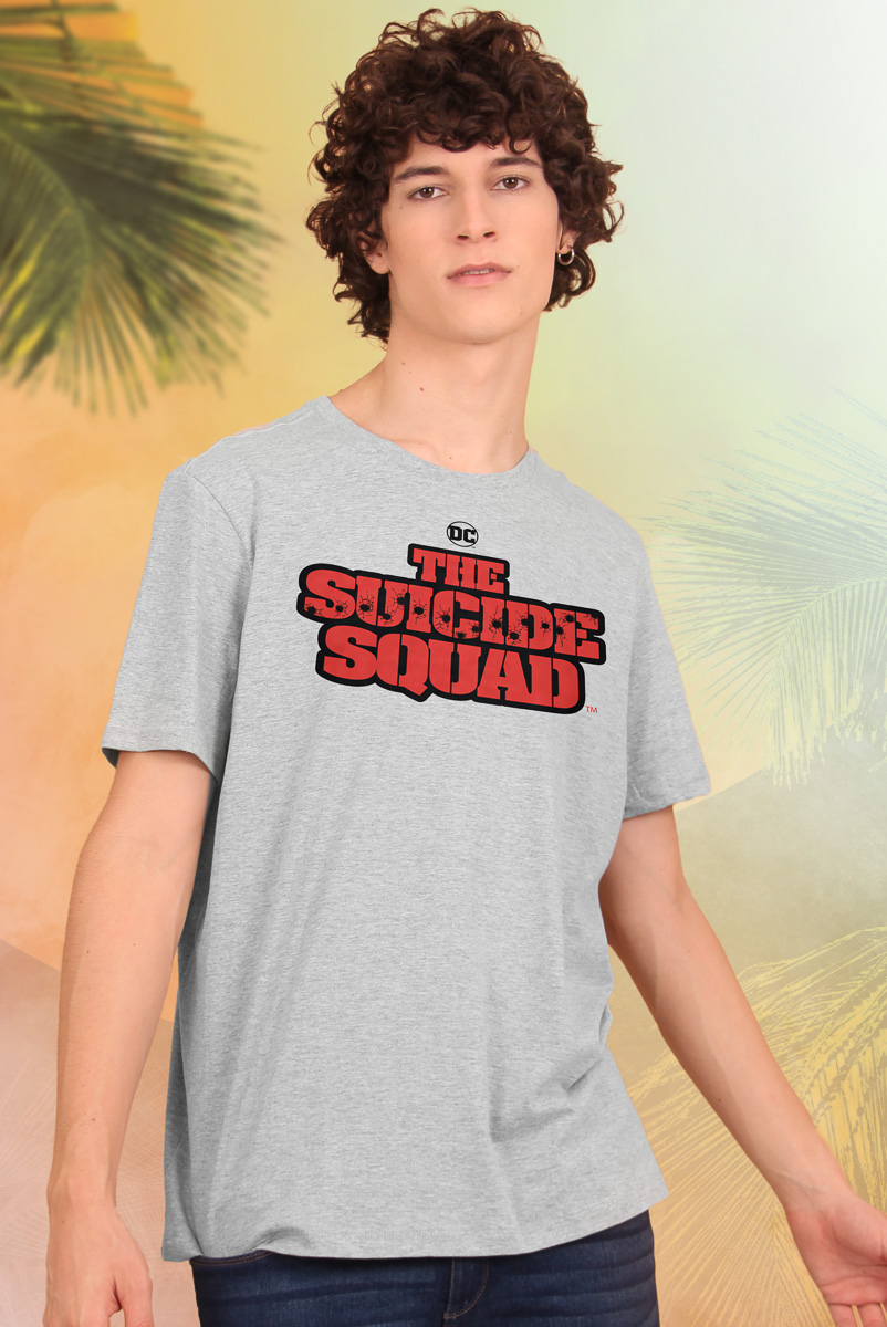 Camiseta Masculina Esquadrão Suicida Logo
