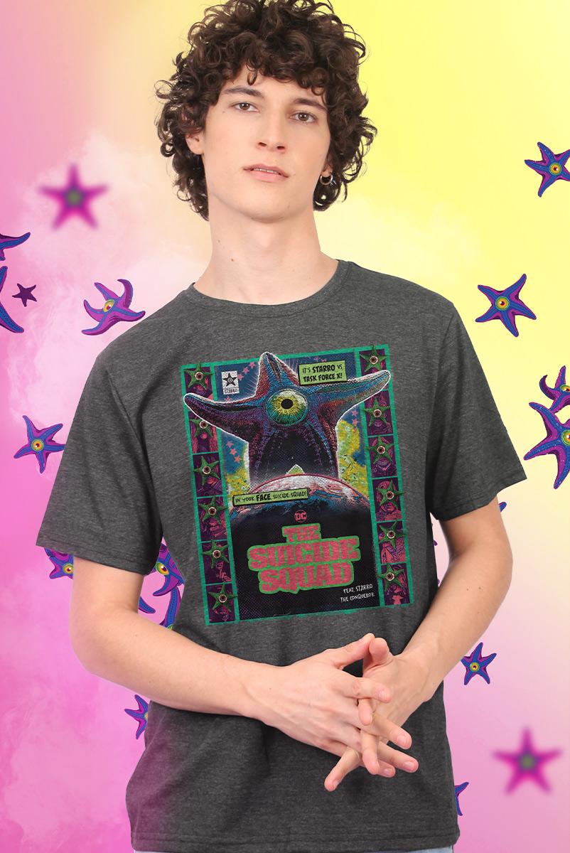 Camiseta Masculina Esquadrão Suicida Starro