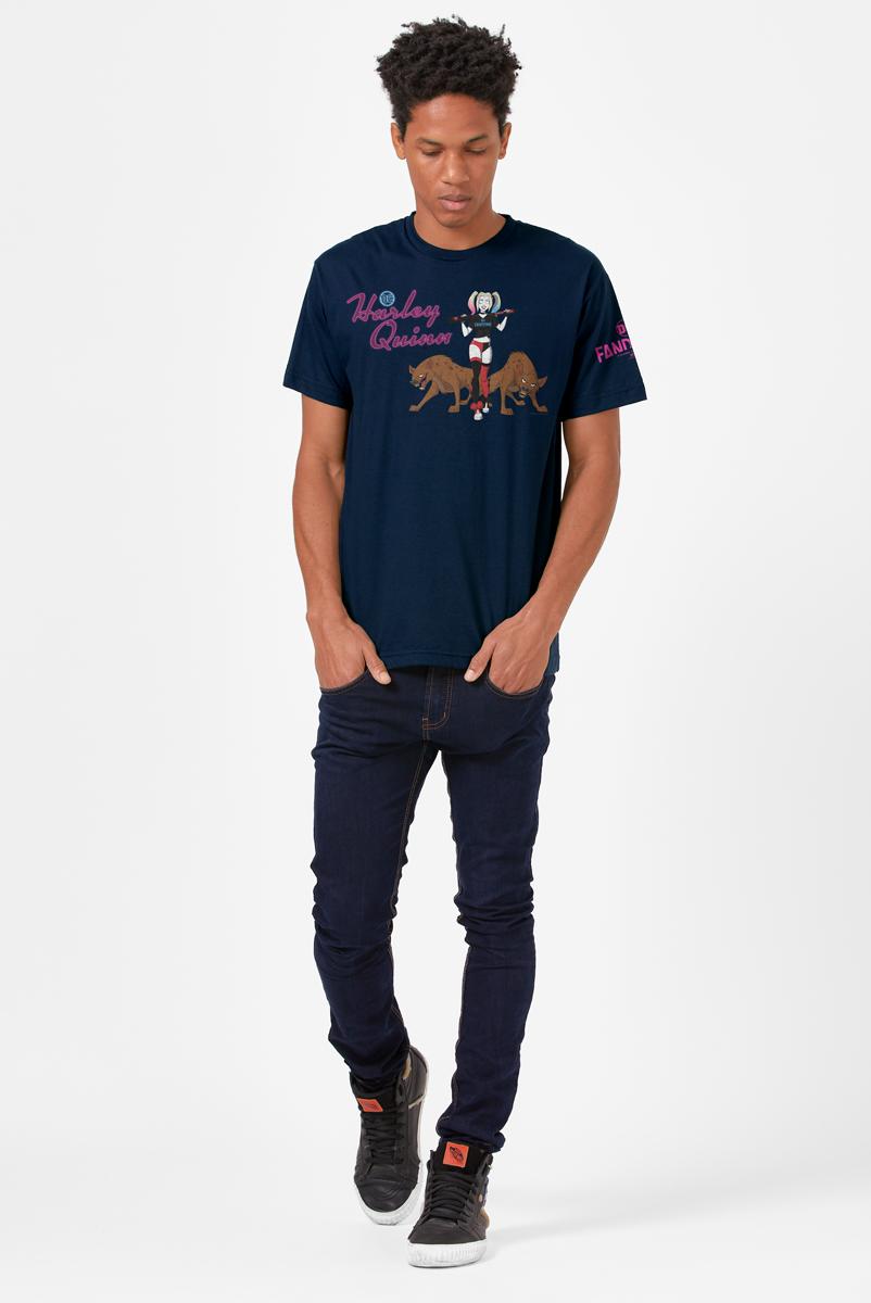 Camiseta Masculina FanDome 2021 Arlequina Bud e Lou