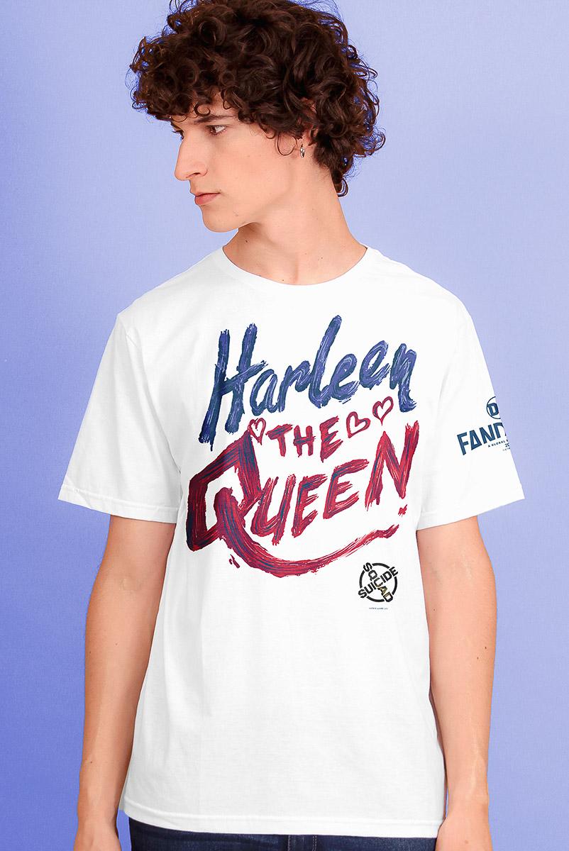 Camiseta Masculina FanDome 2021 Arlequina Heart