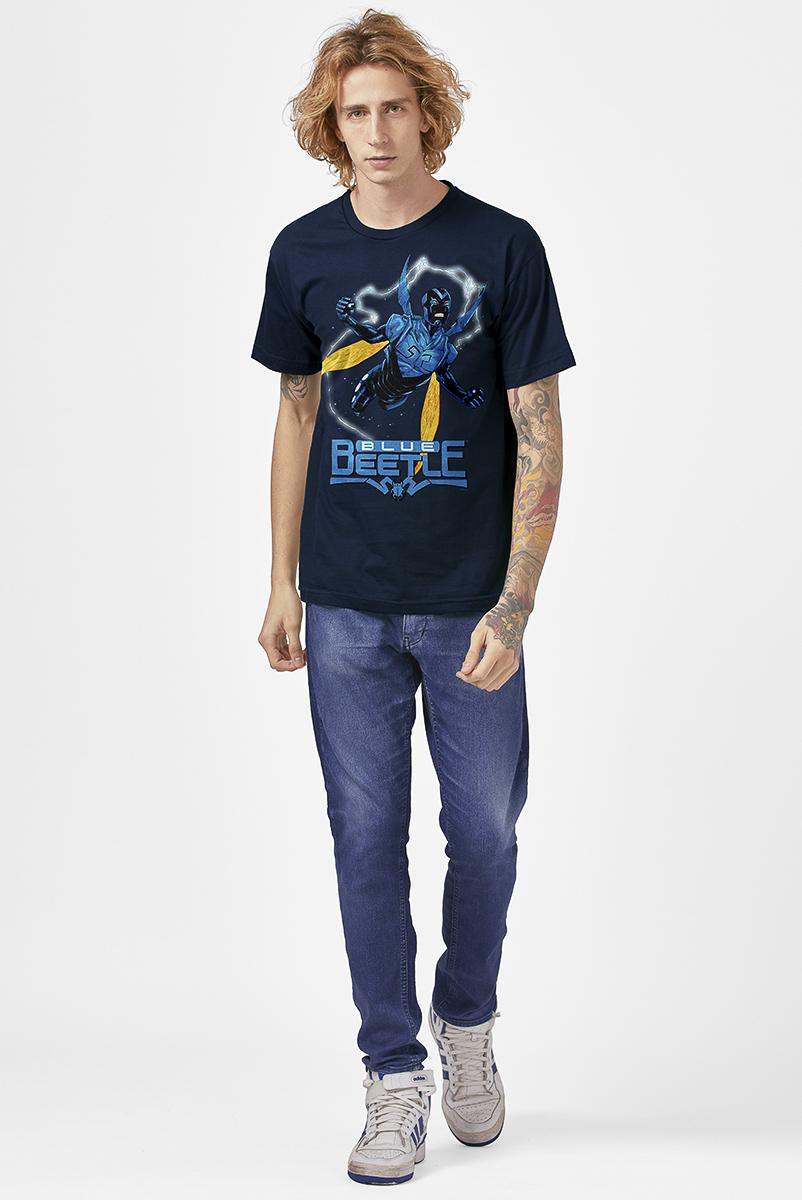 Camiseta Masculina FanDome 2021 Besouro Azul Fly