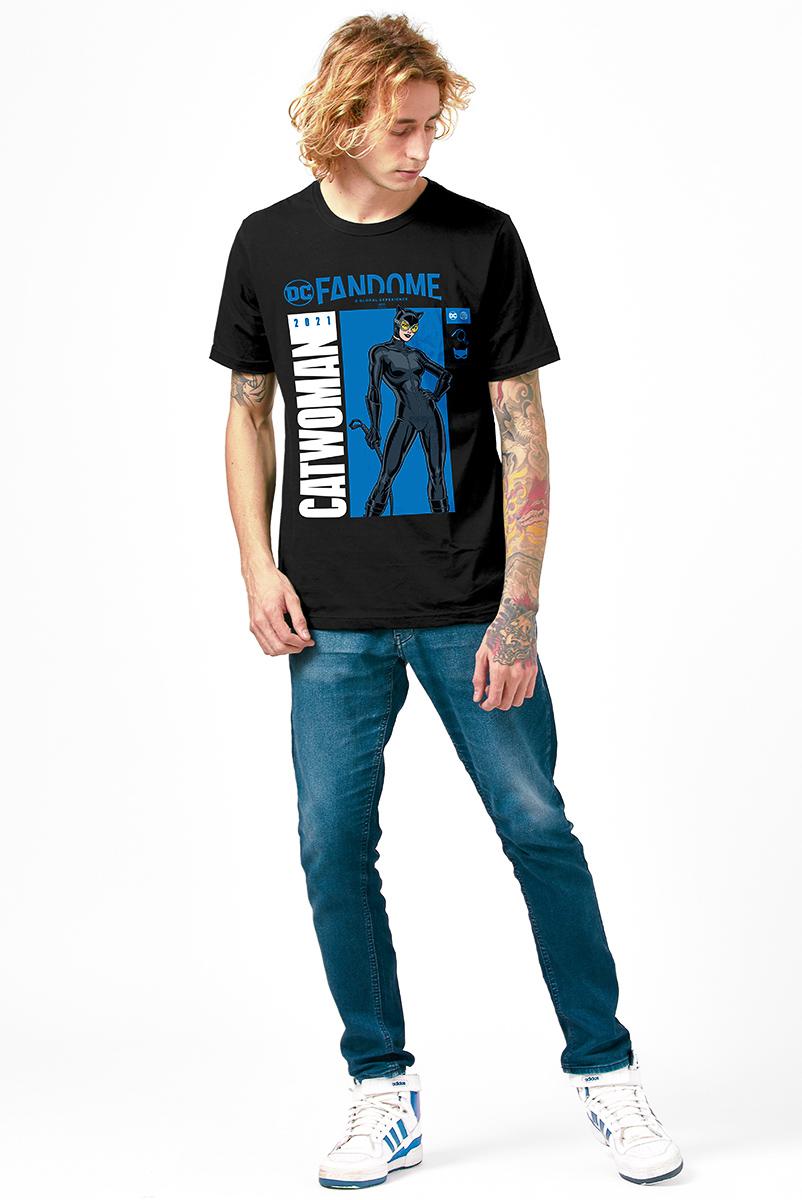 Camiseta Masculina FanDome 2021 Mulher-Gato Pose