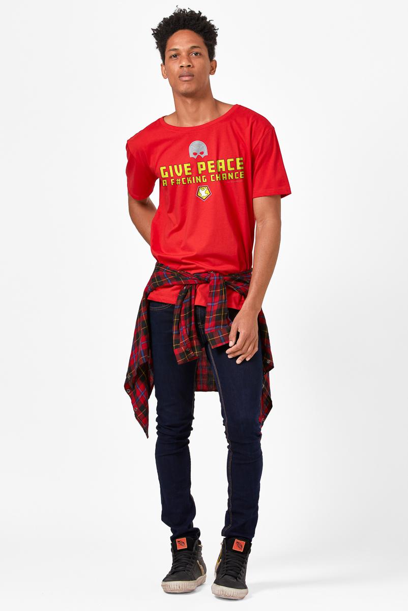Camiseta Masculina FanDome 2021 Give Peace