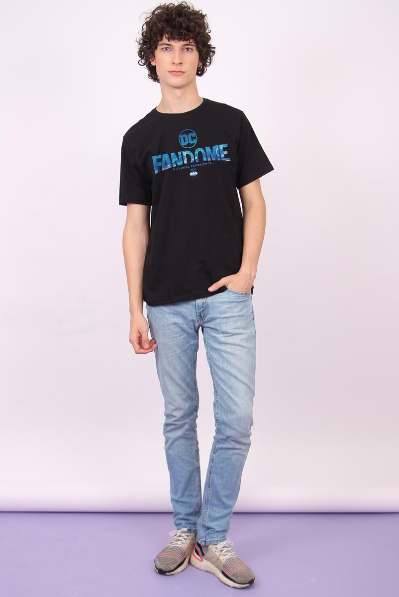 Camiseta Masculina FanDome 2021 Logo Batman Blue