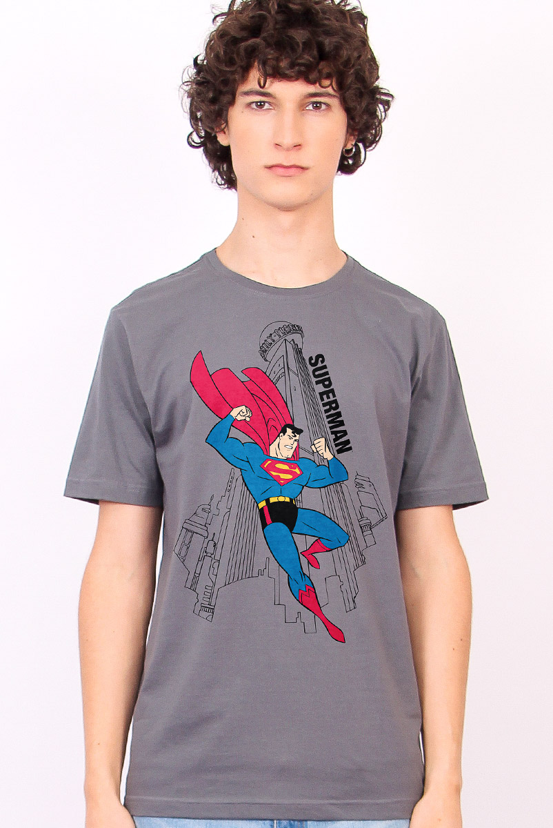 Camiseta Masculina FanDome 2021 Superman Metrópolis