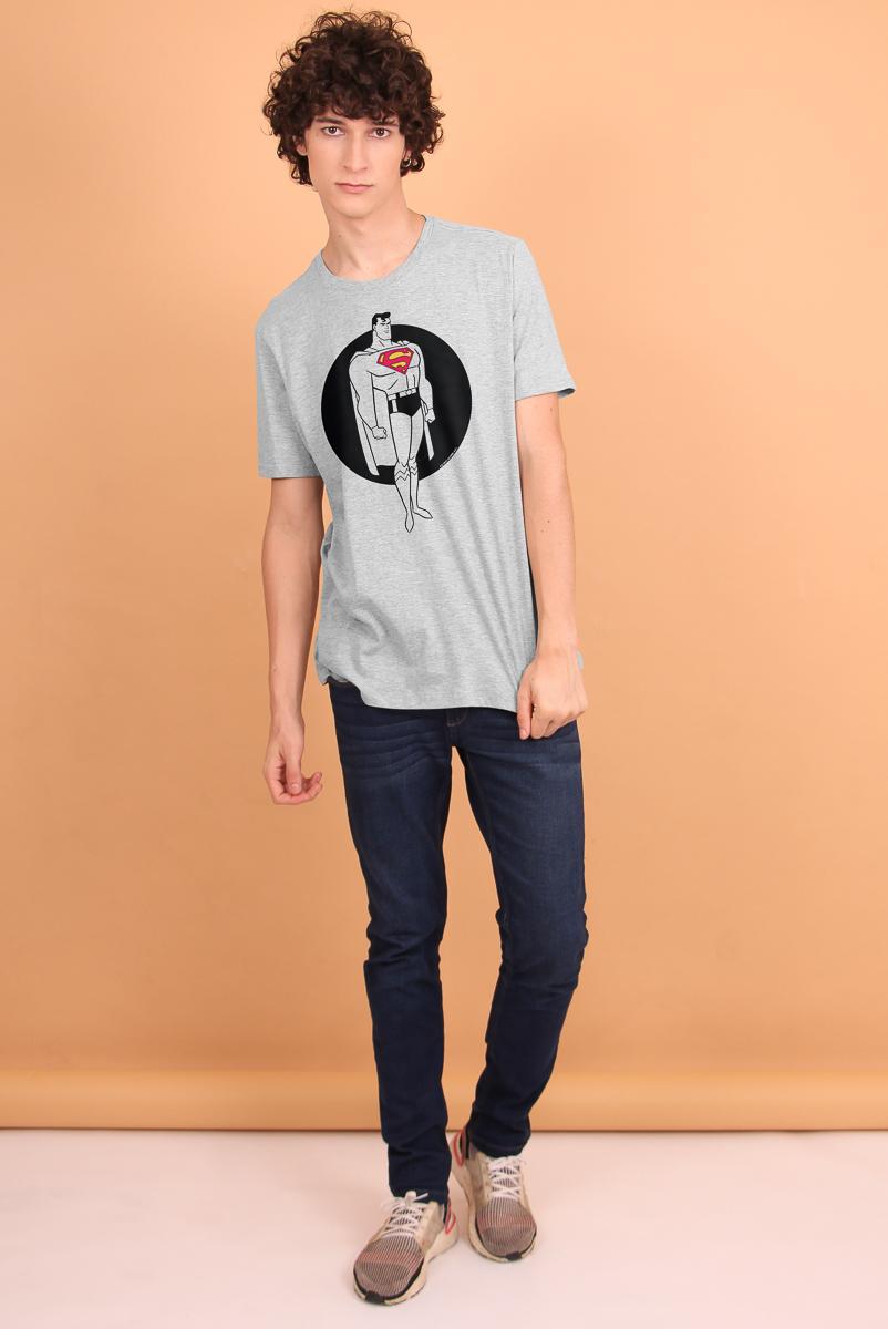 Camiseta Masculina FanDome 2021 Superman Steel
