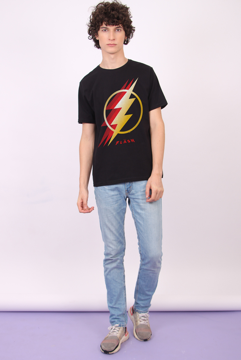 Camiseta Masculina FanDome 2021 The Flash Symbol
