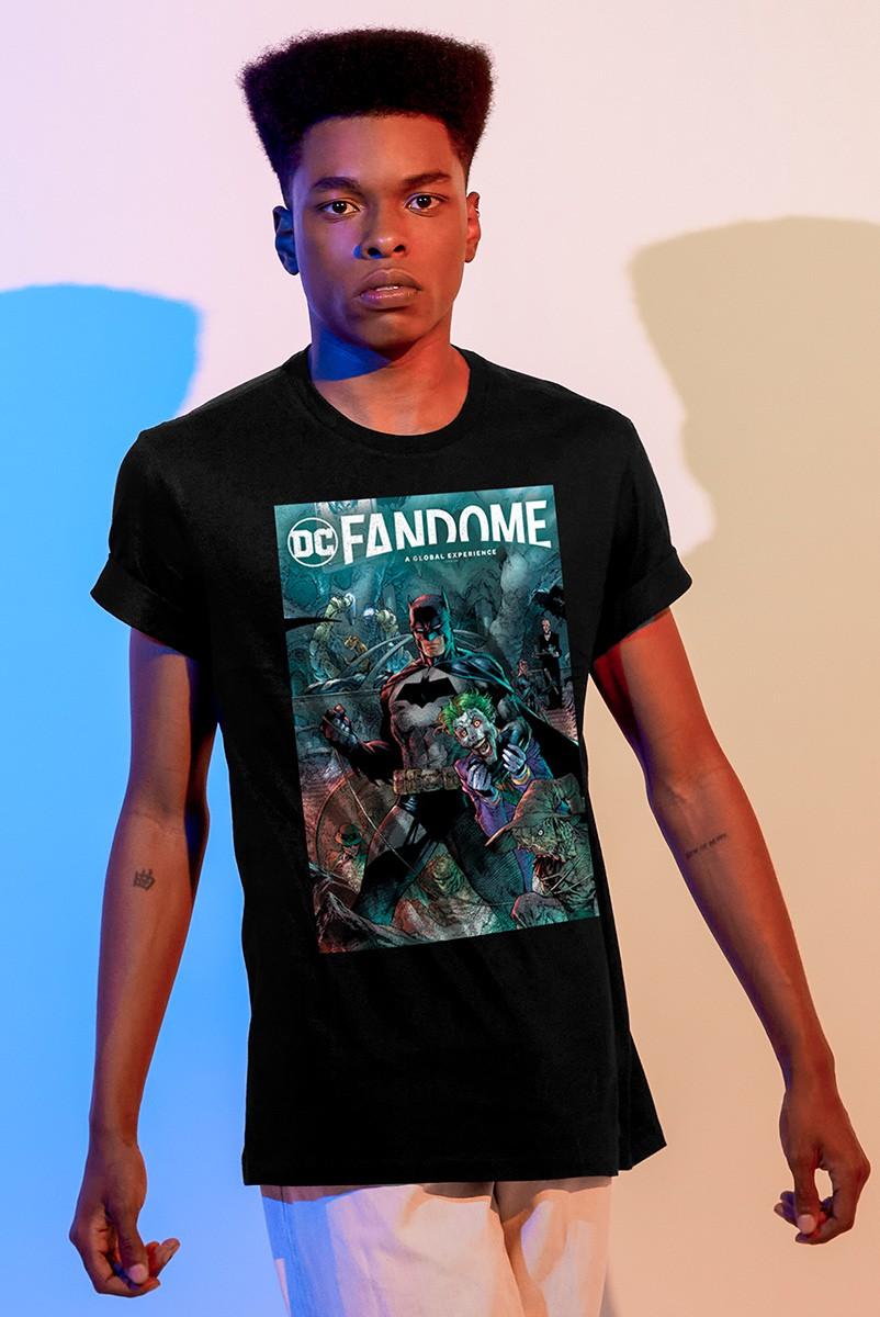 Camiseta Masculina Fandome Batman e Coringa