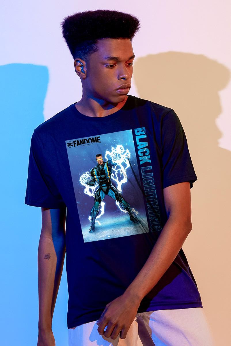 Camiseta Masculina Fandome Raio Negro