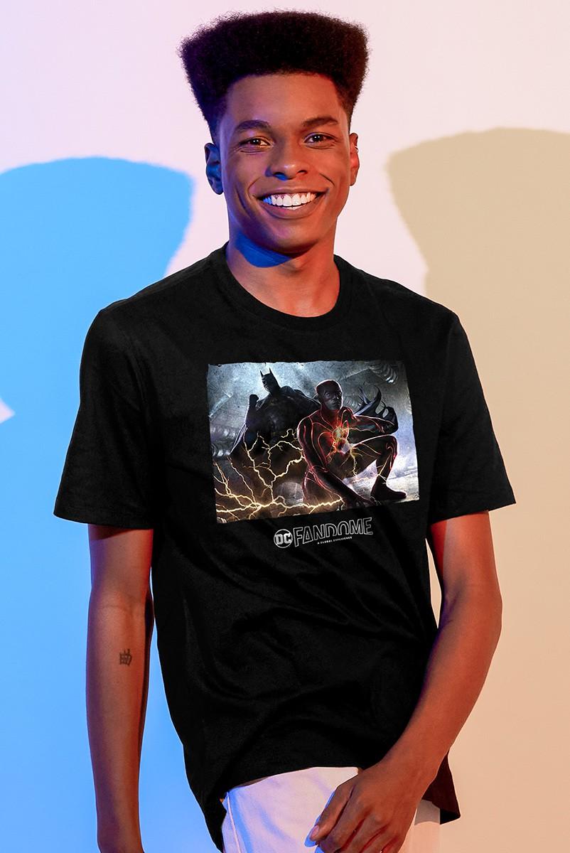 Camiseta Masculina Fandome The Flash e Batman