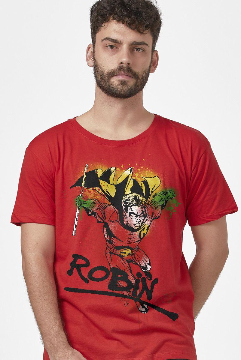 Camiseta Masculina Jovens Titãs Robin