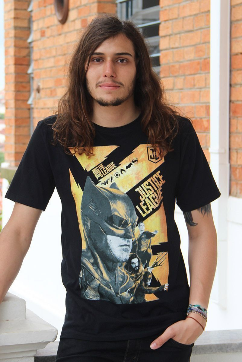NÃO ATIVAR Camiseta Masculina Liga da Justiça Batman
