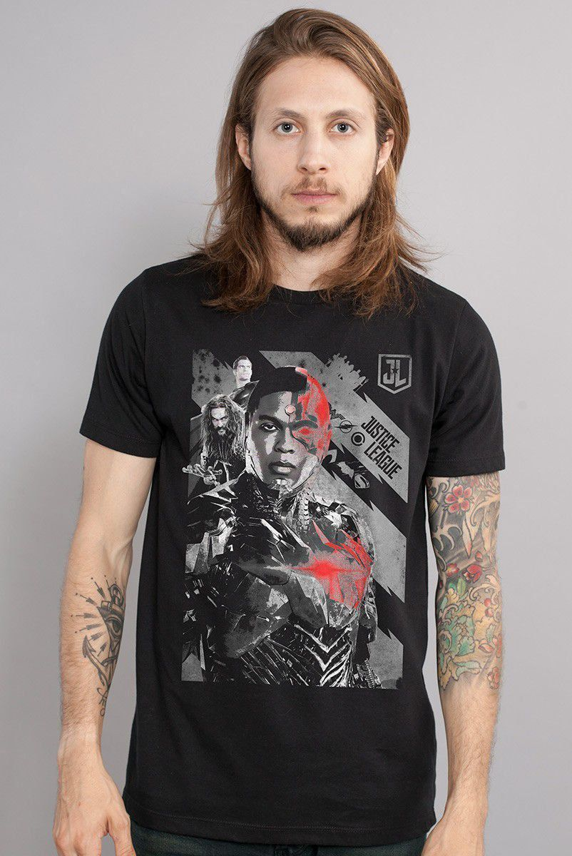 Camiseta Masculina Liga da Justiça Cyborg
