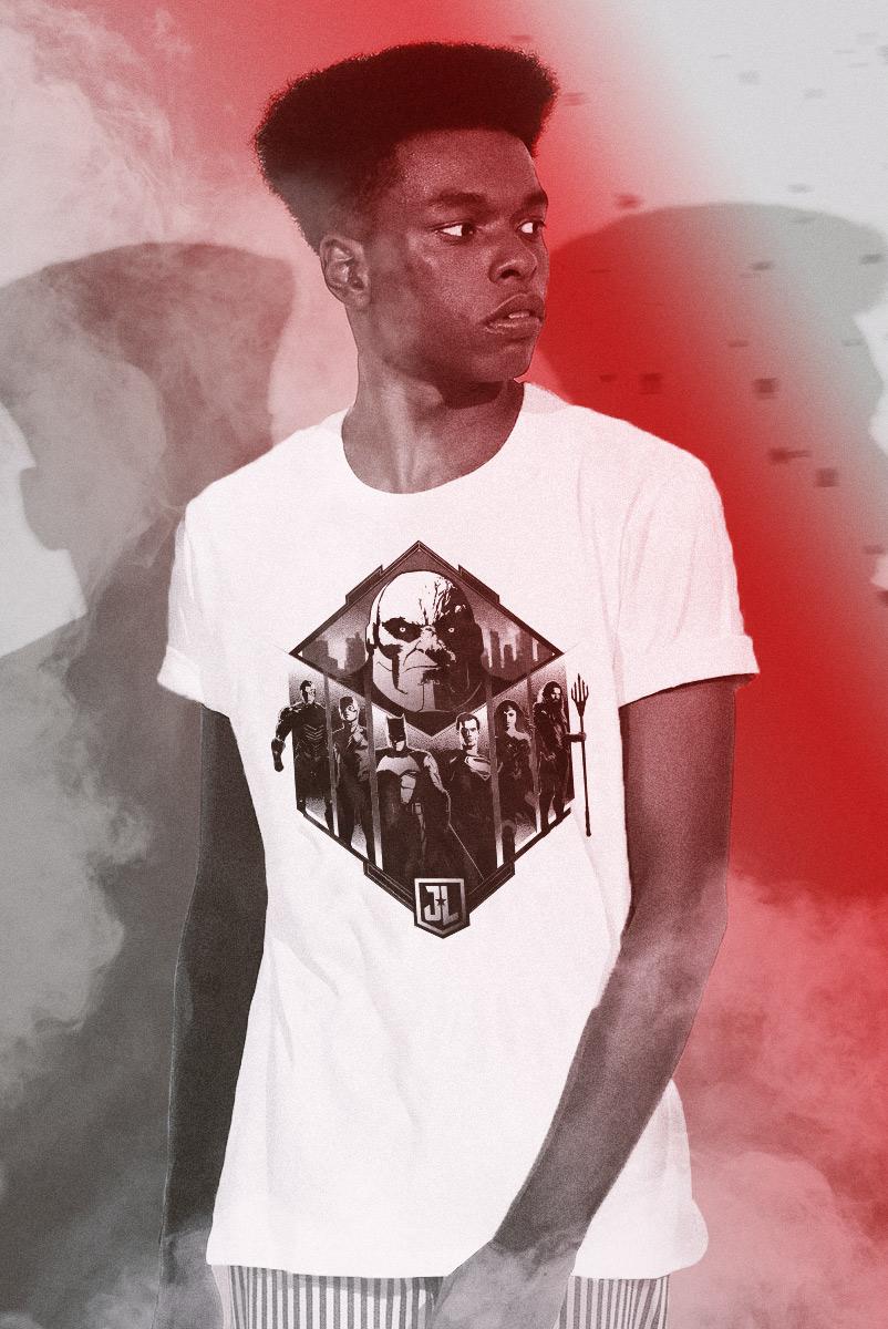 Camiseta Masculina Liga da Justiça Snyder Cut - Darkseid vs League