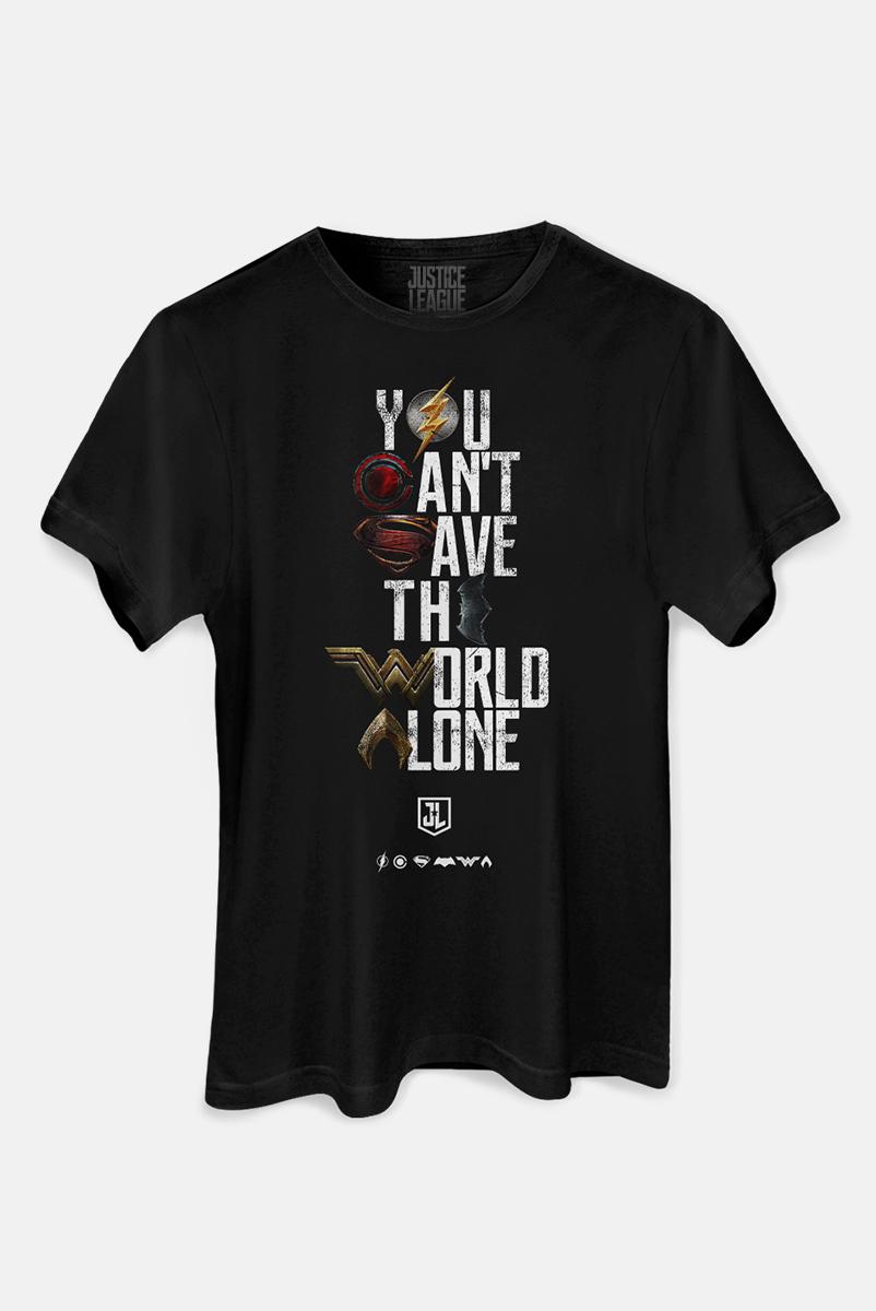Camiseta Masculina Liga da Justiça Snyder Cut - You Can't Save Color