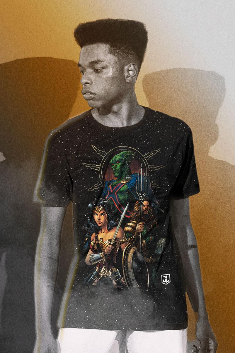 Camiseta Masculina Liga da Justiça Snyder Cut - Caçador de Marte
