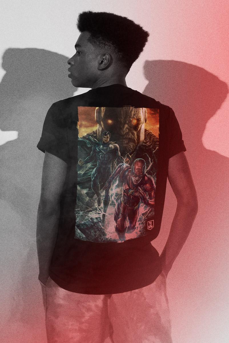 Camiseta Masculina Liga da Justiça Snyder Cut - Darkseid Em Ação