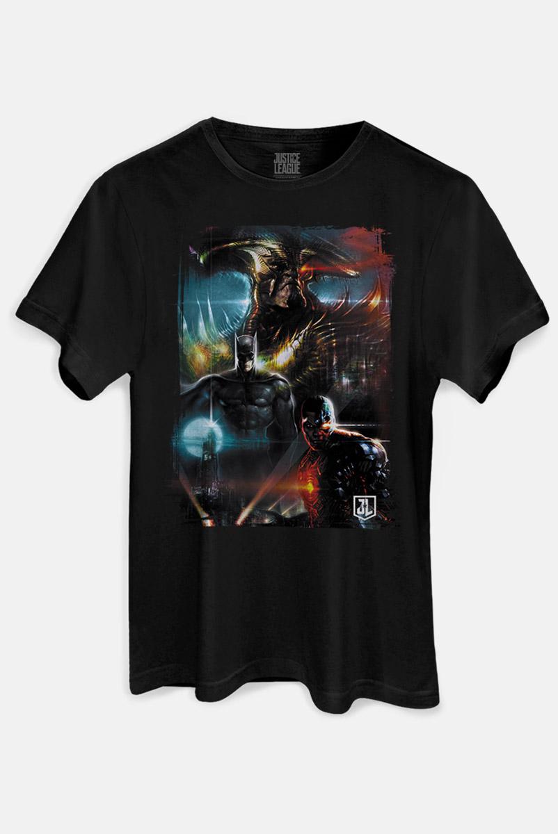 Camiseta Masculina Liga da Justiça Steppenwolf Em Ação