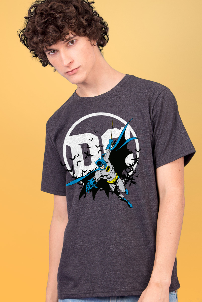 Camiseta Masculina Logo DC Batman