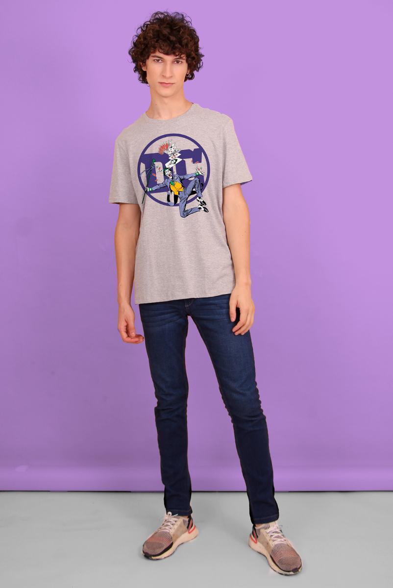 Camiseta Masculina Logo DC Coringa