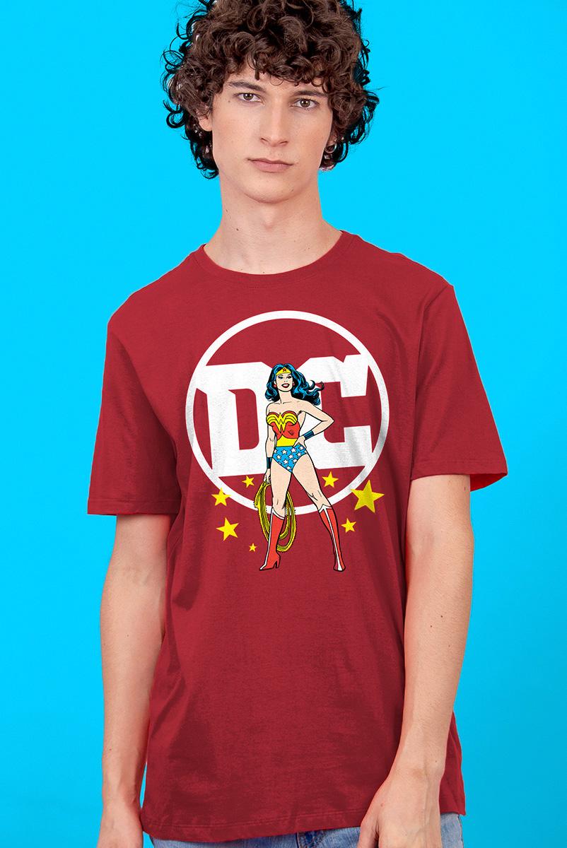 Camiseta Masculina Logo DC Mulher Maravilha