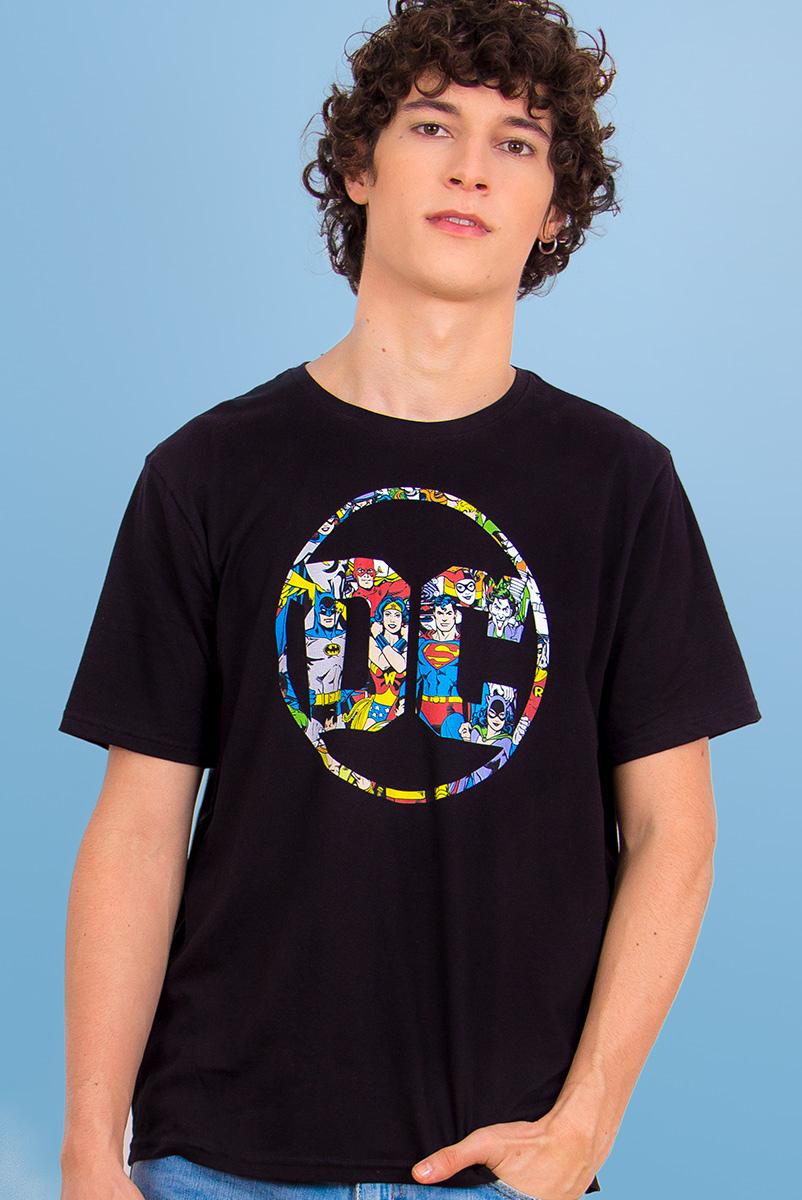 Camiseta Masculina Logo DC Universo