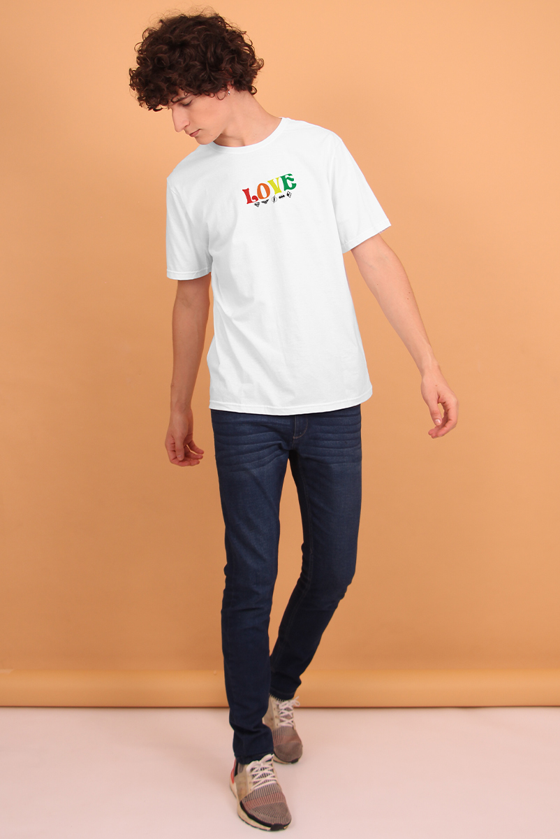 Camiseta Masculina Mini Logos Love