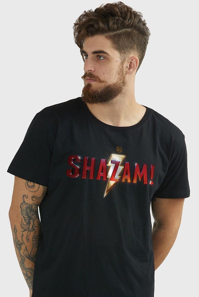 Camiseta Masculina Shazam Logo Clássico