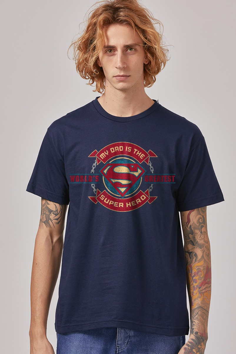 NÃO ATIVAR Camiseta Masculina Superman Dad Superhero