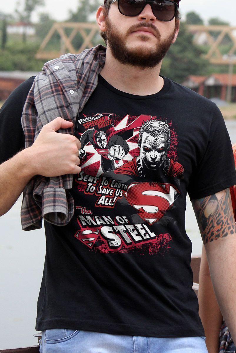 Camiseta Masculina Superman em Ação
