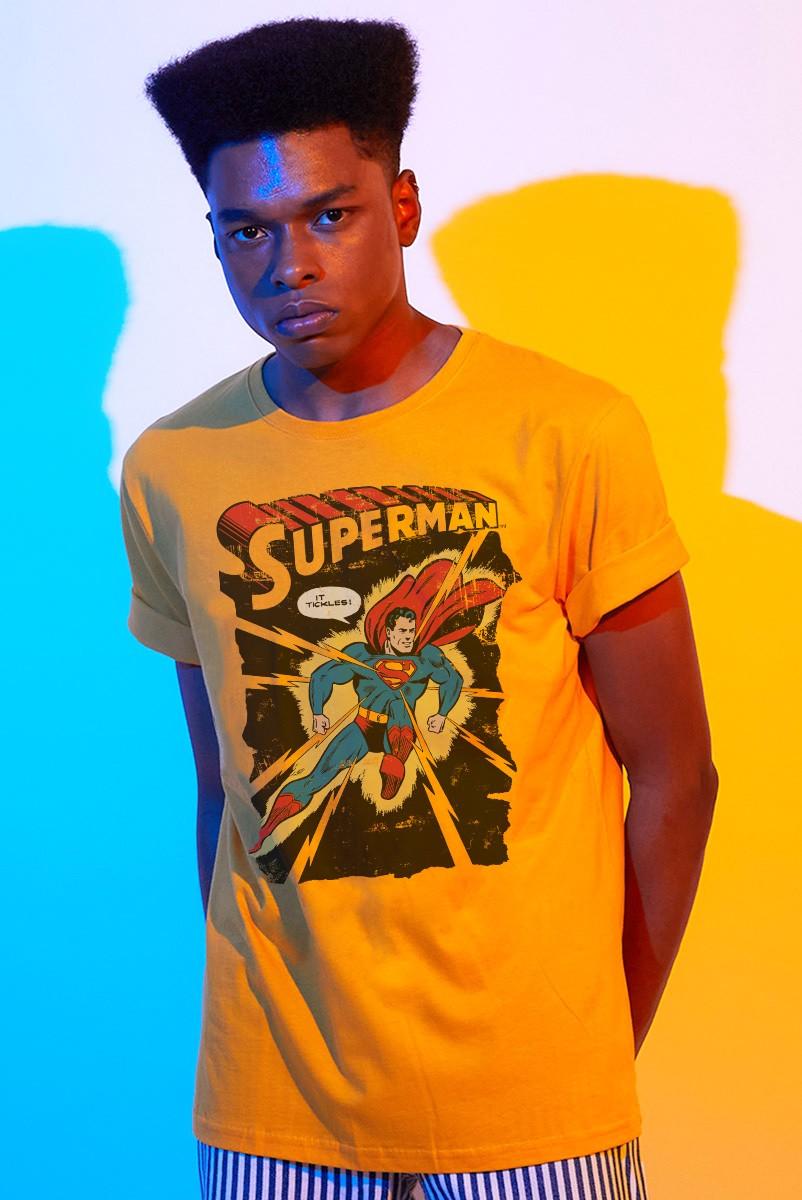 Camiseta Masculina Superman It Tickles!