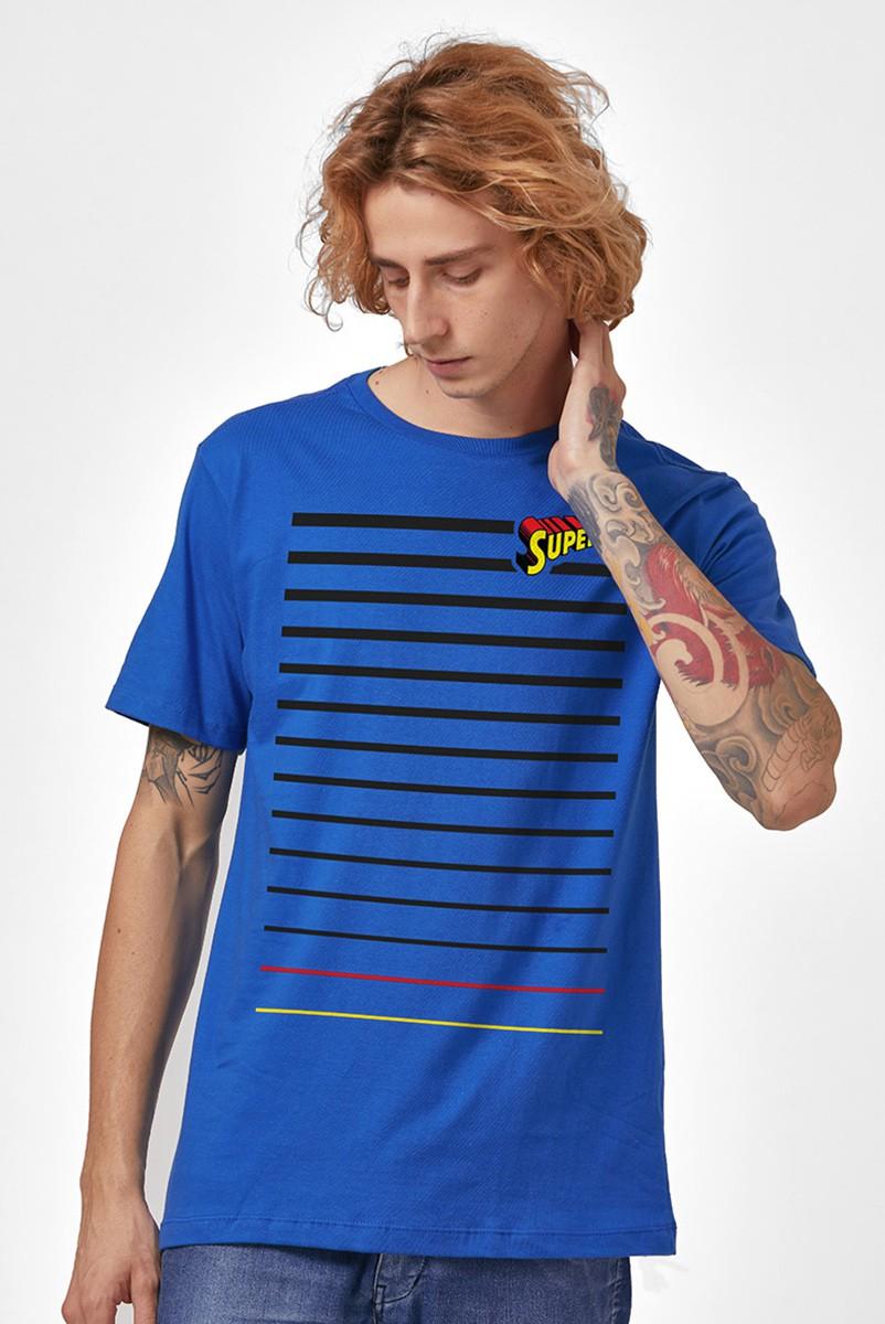 Camiseta Masculina Superman Linhas