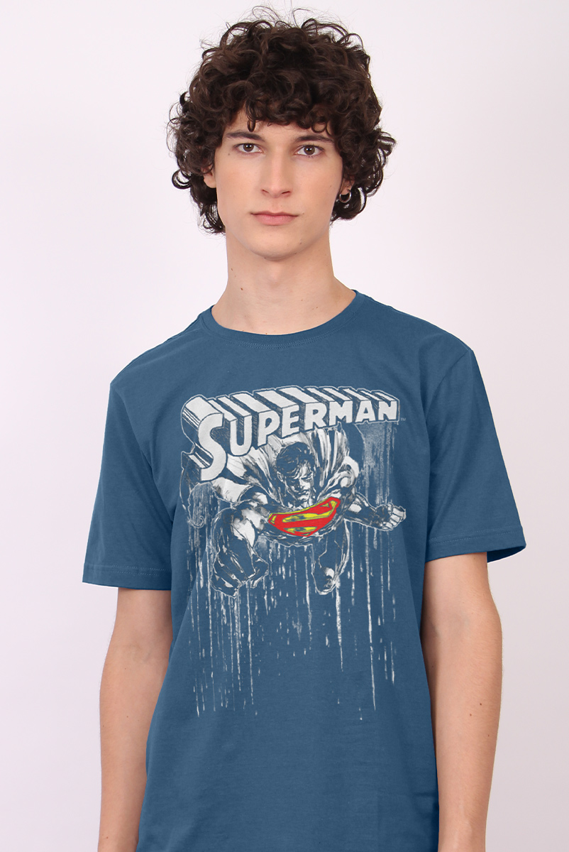 Camiseta Masculina Superman Melting Color