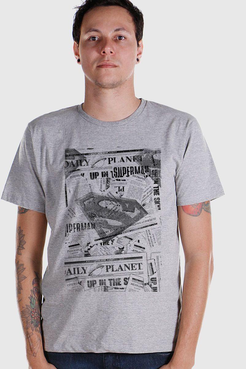 NÃO ATIVAR Camiseta Masculina Superman Planeta Diário