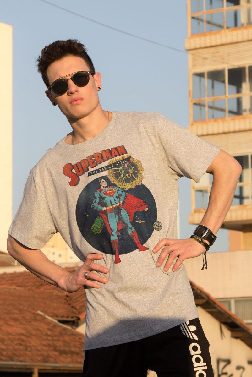 Camiseta Masculina Superman Comics