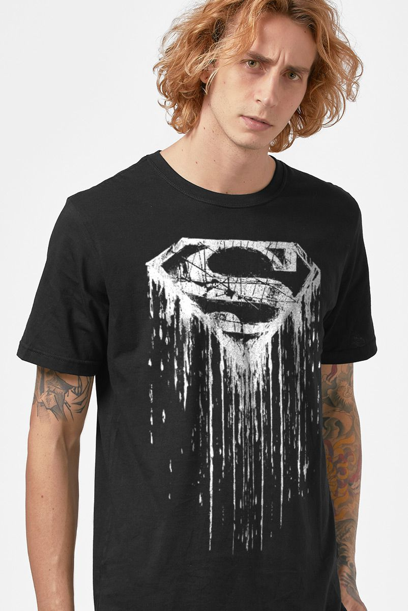Camiseta Masculina Superman Steel Melting