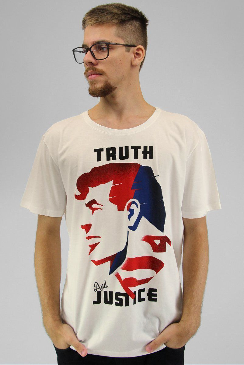Camiseta Masculina Superman Truth and Justice