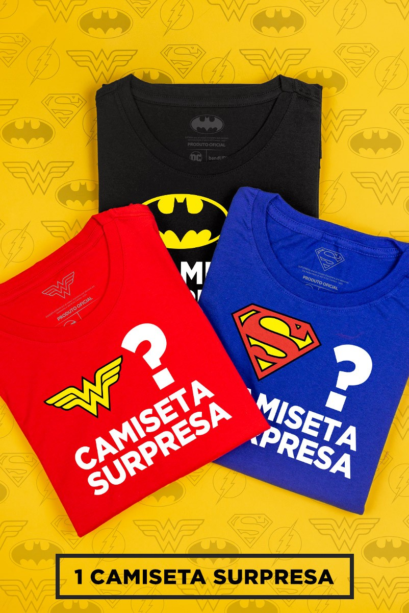 Camiseta Masculina SURPRESA DC Comics