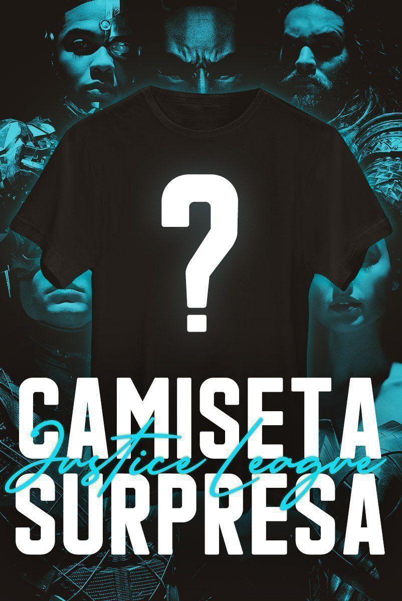 Camiseta Masculina SURPRESA Liga da Justiça