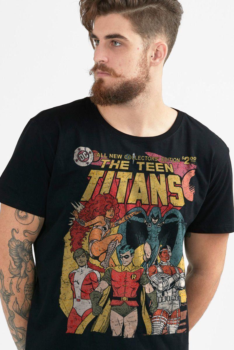 Camiseta Masculina Teen Titans HQ