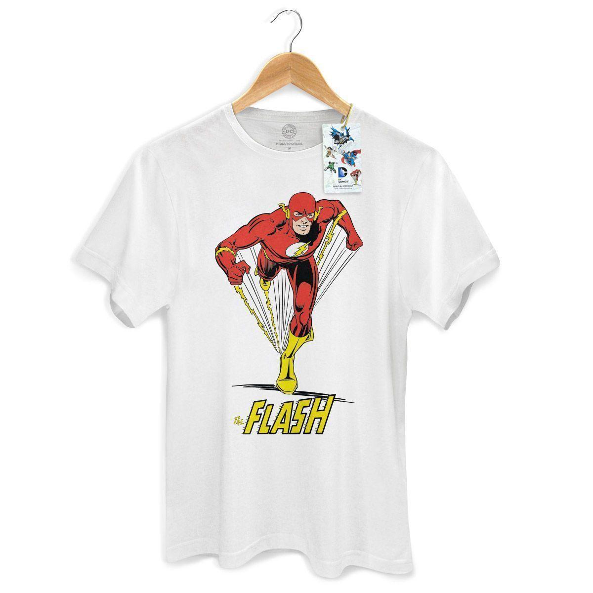 Camiseta Masculina The Flash em Ação White