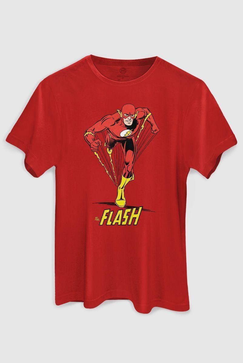 Camiseta Masculina The Flash Em Ação