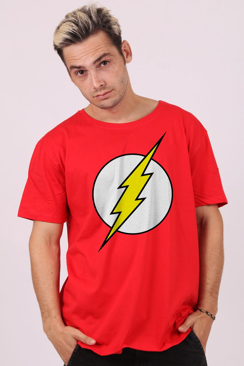 Camiseta Masculina The Flash Scarlet Speedster