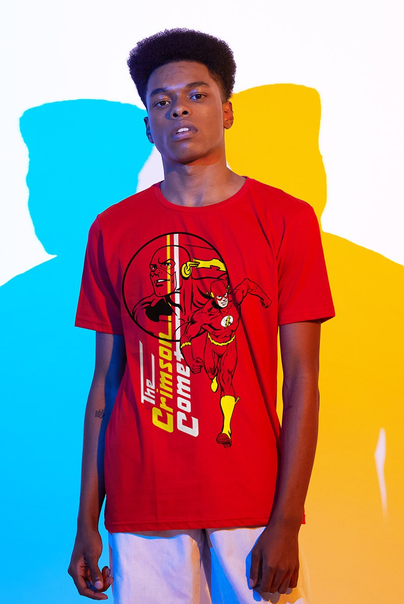 Camiseta Masculina The Flash The Crimson Come