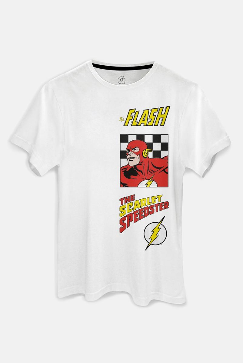 Camiseta Masculina The Flash The Scarlet Speedster