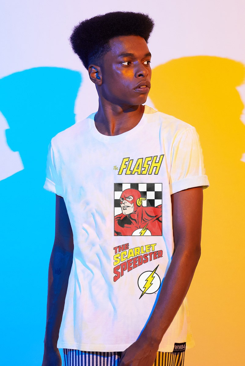 Camiseta Masculina The Flash The Scarlet Speedster