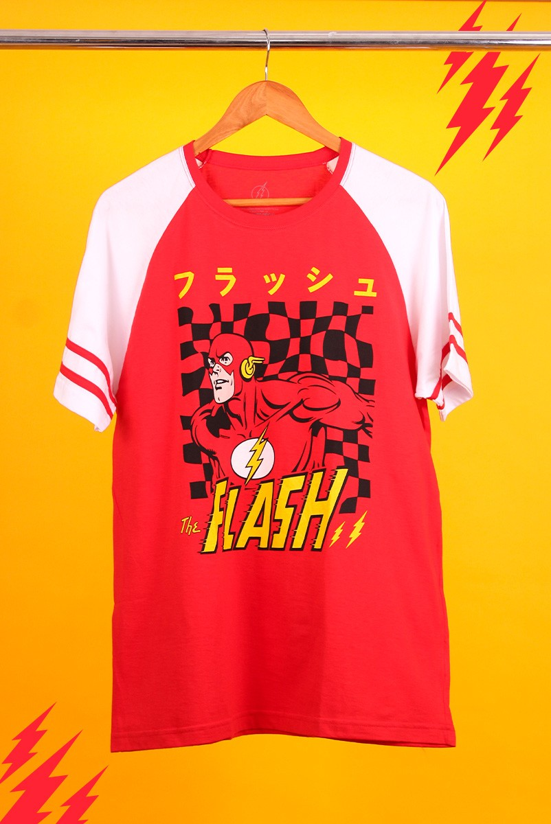 Camiseta Raglan Athletic Masculina The Flash Japanese