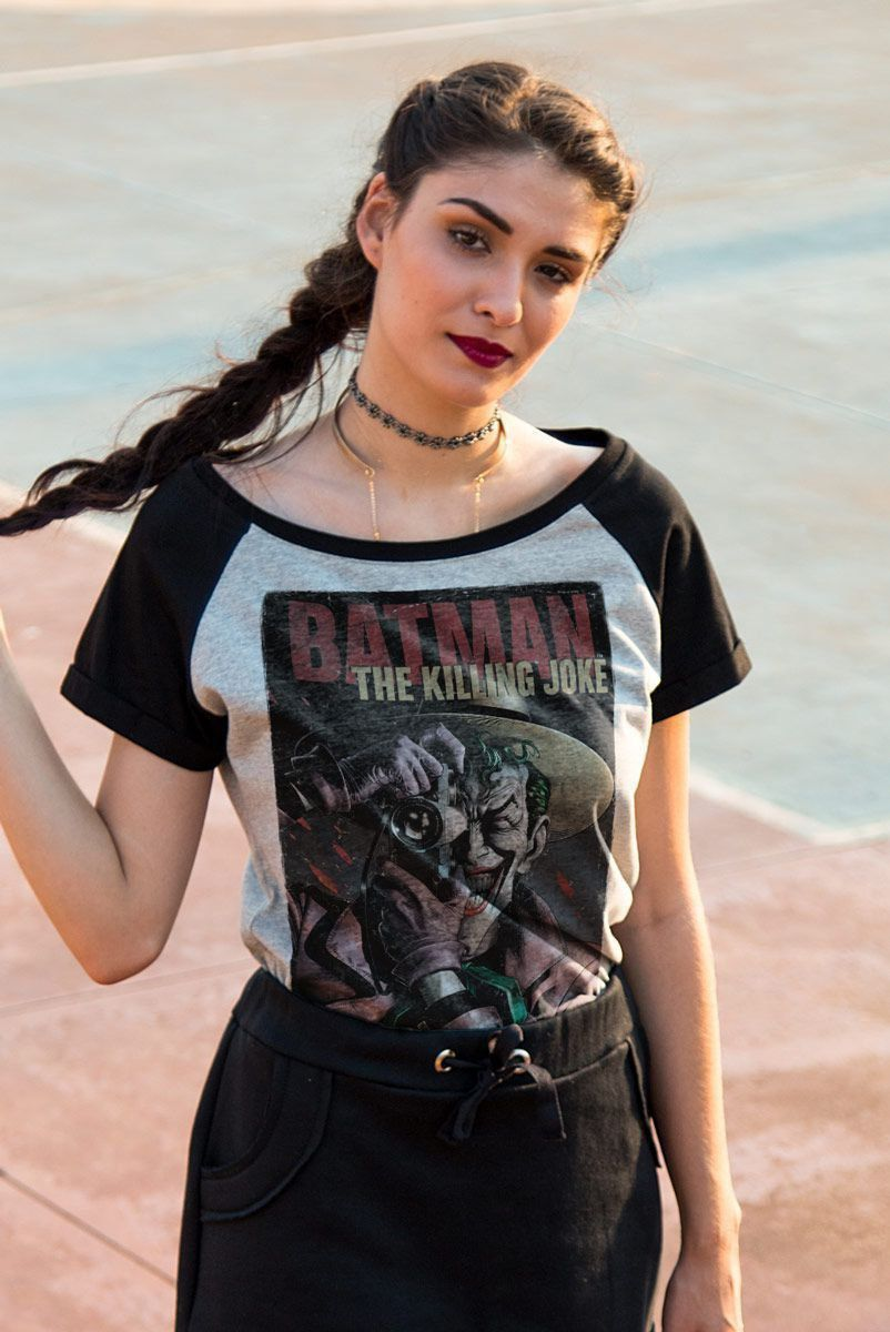 Camiseta Raglan Feminina The Joker Killing Joke