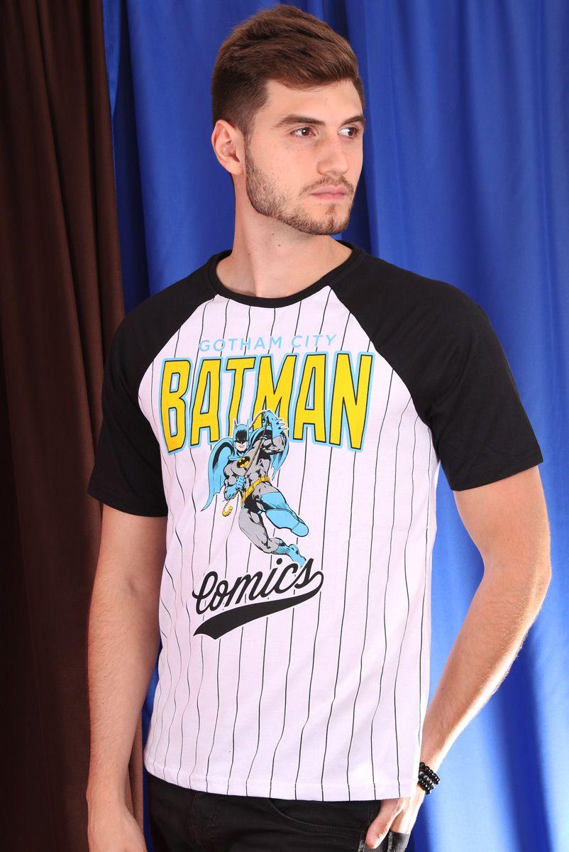 Camiseta Raglan Masculina Batman Comics
